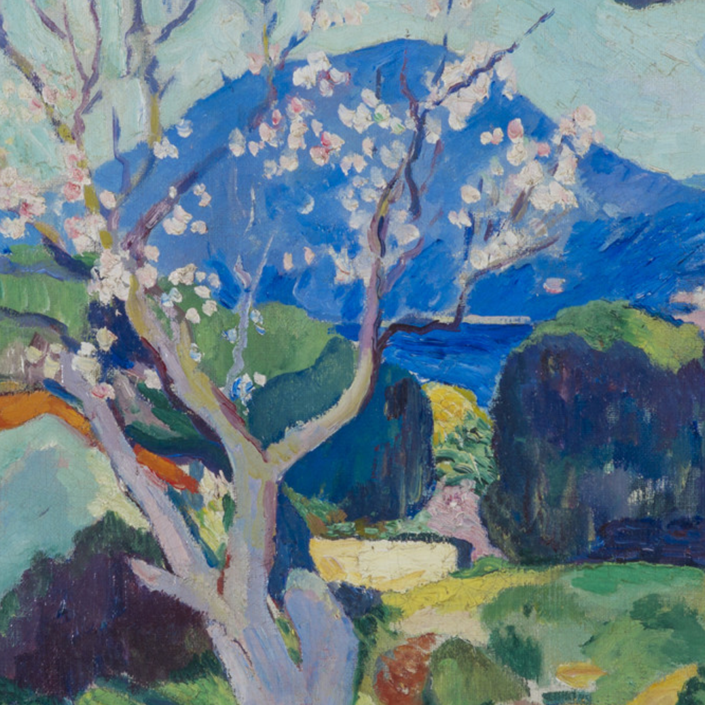 Henri Manguin - L'amandier en fleurs, repro tableau - Les Emaux de Renaud