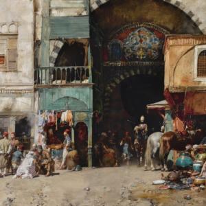 Alberto Pasini - Marché à Constantinople