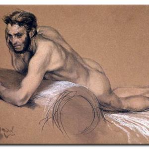 Adolph von Menzel - Allegory of the river oder