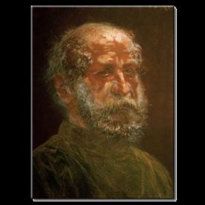 Adolph von Menzel - Tête dun juif chauve à la barbe pleine