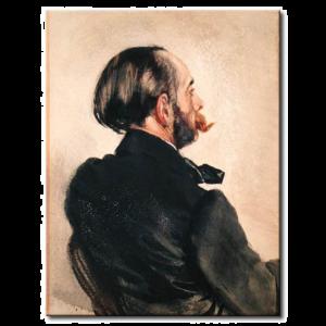 Adolph von Menzel - Richard, le frère de l'artiste
