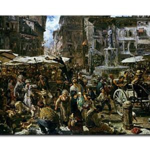 Adolph von Menzel - Le marché de Vérone