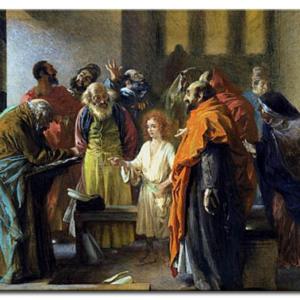 Adolph von Menzel - Jésus à 12 ans dans le temple