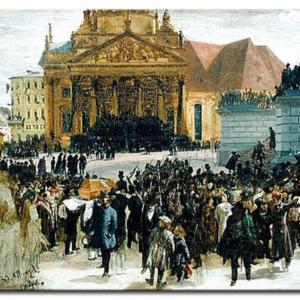 Adolph von Menzel - Aufbahrung der Märzgefallenen
