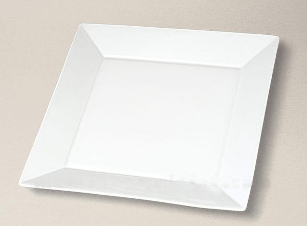 assiette plate carrée Kyoto en porcelaine décorée