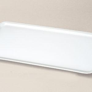 plat à cake 37x15 Haussmann en porcelaine décorée