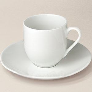 tasse à café boule Artois en porcelaine décorée