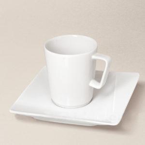tasse à café Khéops en porcelaine décorée