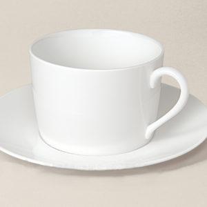 tasse déjeuner Sologne en porcelaine décorée