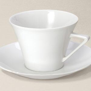 tasse déjeuner 37cl Haussmann en porcelaine décorée