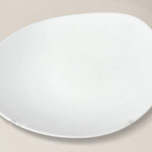 assiette de présentation Island en porcelaine décorée