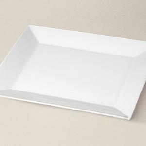assiette rectangulaire Kyoto en porcelaine décorée