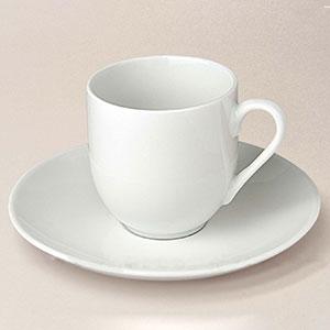 tasse à café boule Flandre, porcelaine, décorée