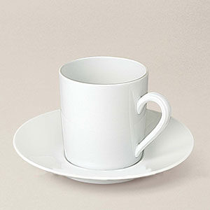 tasse à café Empire, porcelaine, décorée