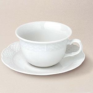 tasse thé basse soucoupe Natacha porcelaine décorée