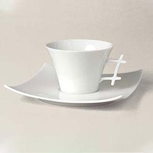 tasse thé Oxygène porcelaine décorée